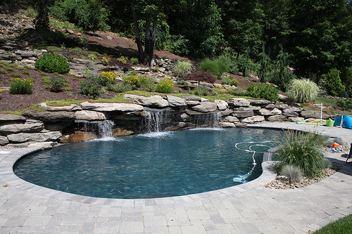 Water Feature Swimming Pool, Landscaping and Garden Design in Westchester County,NY