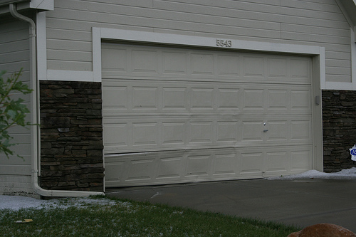 My neighbors garage door