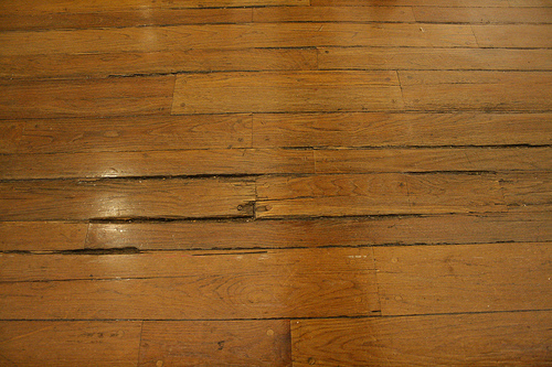 Old Splintered Wooden Floor At Macy S