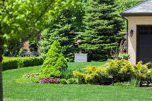 Healthy landscaped lawn/courtesy of Scotts Miracle-Gro