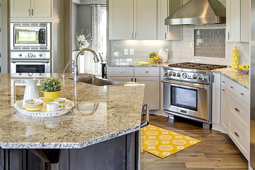 Contemporary granite countertops / courtesy Coldspring