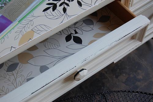 wallpaper dresser drawers