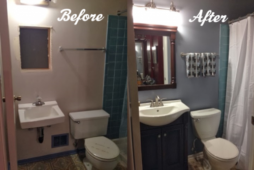 Photo: Kirsten S/Hometalk & Renovate a Bathroom in 24 Hours - Networx