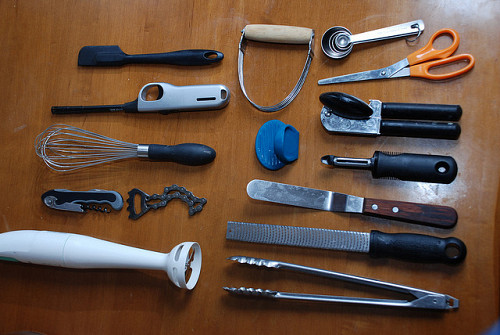 Photo of kitchen tools/beer bottle openers by kthread/flickr.