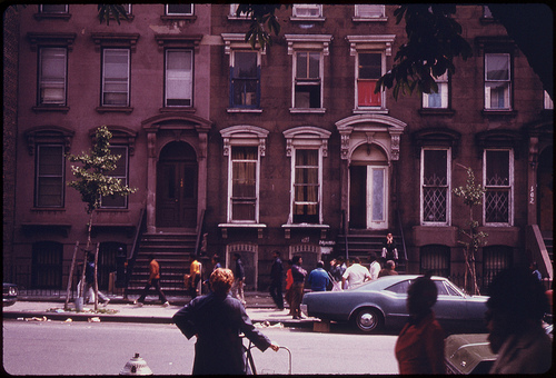 Apartment House Across From Fort Green Park in Brooklyn New York City...06/1974
