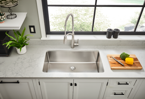 Iconix single bowl sink/Courtesy of Elkay (white)