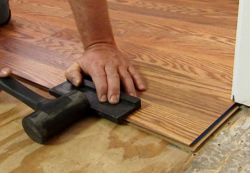Install laminate floor block/courtesy of Lowe's