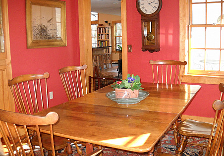 The Brydens' dining area.