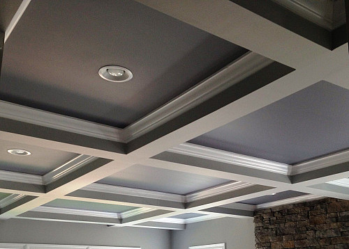 Coffered ceiling with contrasting paint by Melissa Clark/flickr