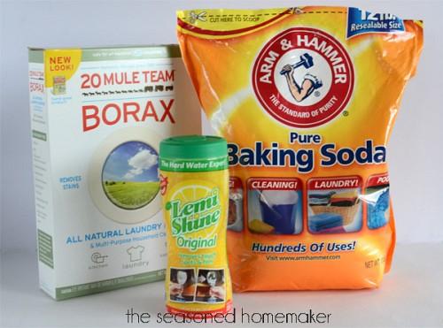 Ingredients for DIY dishwasher detergent