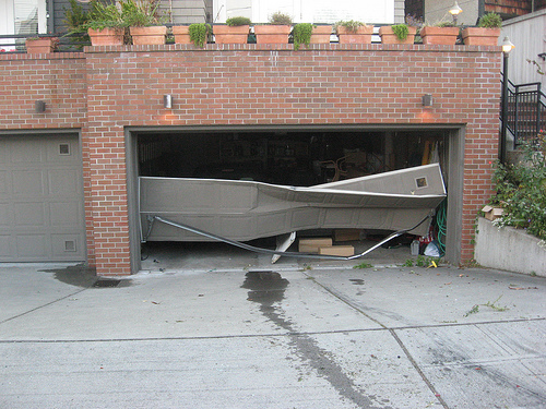 garage door damage exterior