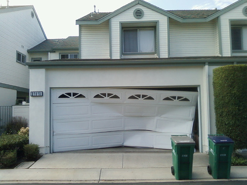 Photos Of Accidents Backed Into Garage Door Networx