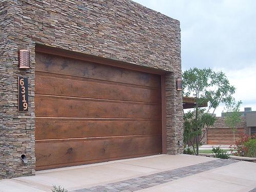 Garage Doors Flushline Copper