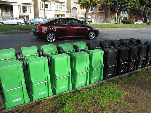 Twenty Garbage Cans