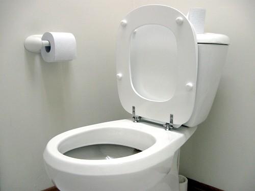 white modern toilet