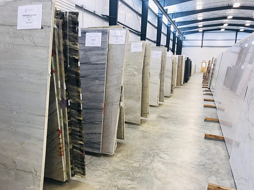 Stone slabs at the warehouse/courtesy of Vitoria International
