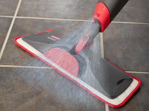 Tile floor scrubber spray  Rubbermaid / flickr