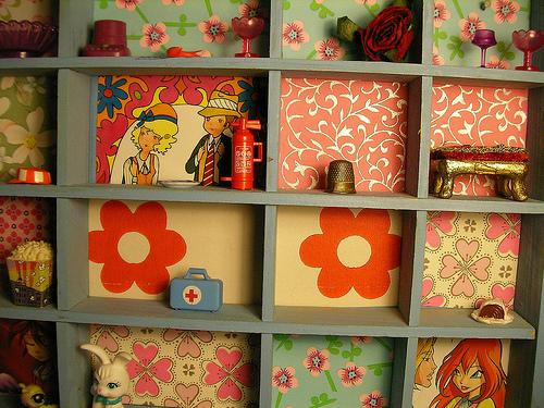 wallpaper display case