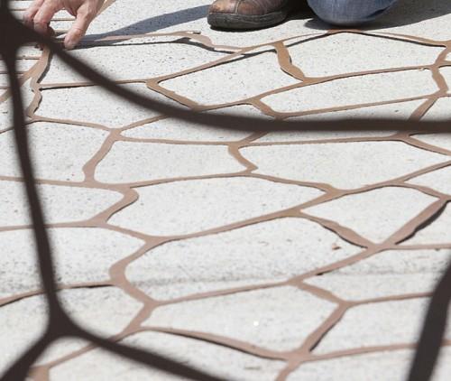 Stenciling concrete/courtesy Sakrete