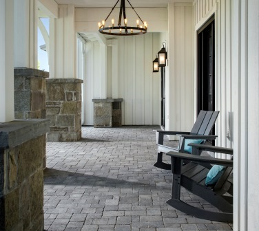 Paver outdoor living space / courtesy Belgard