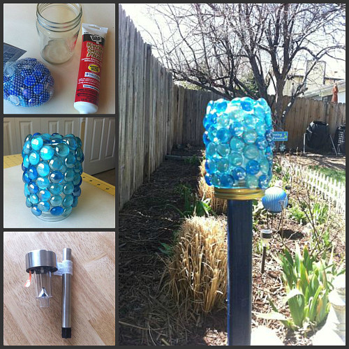 13 ways to make your garden sparkle networx diy embellished garden lamp kathwithane via hometalk solutioingenieria Image collections