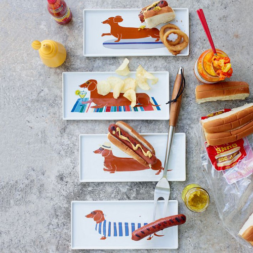 Claudia Pearson Hot Dog Plates from WestElm.com
