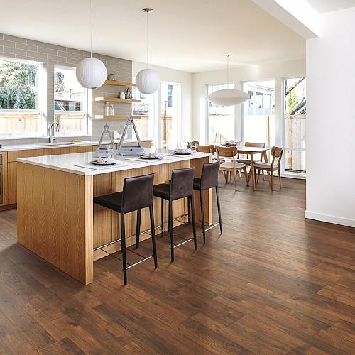 Crestridge Hickory laminate flooring/courtesy of Lowe's