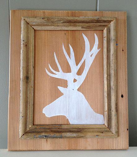 Deer silhouette and photo by Ally @Homemeade via Hometalk.com