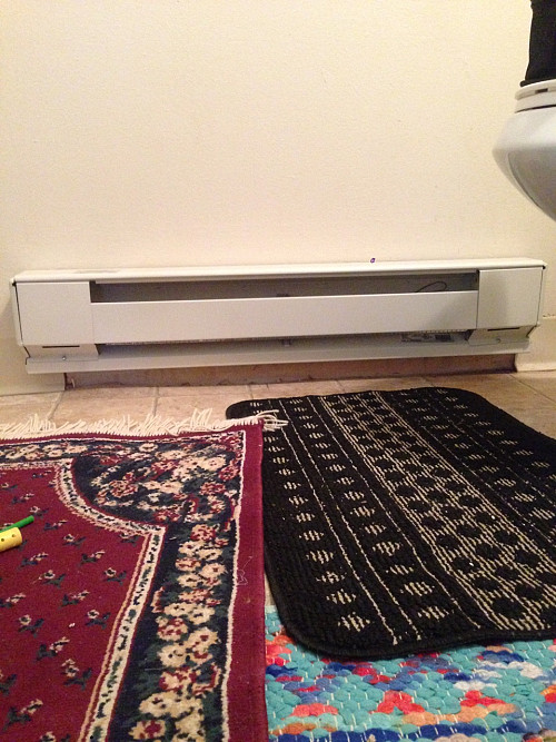 AFTER New baseboard heater installation