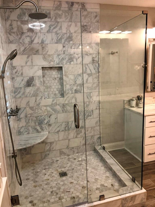Move-in ready shower/courtesy Kate Wright