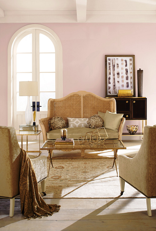 Charming Pink living room/courtesy Sherwin-Williams