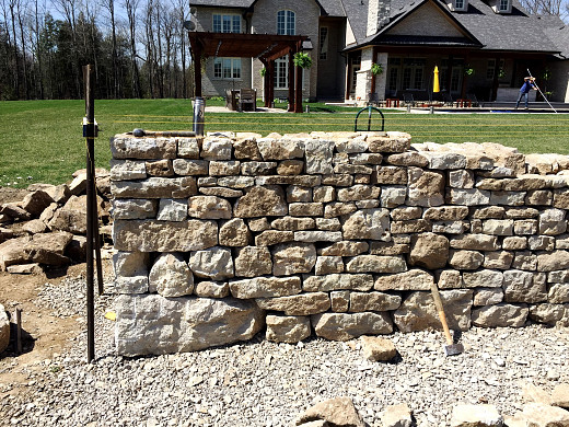 Dry stone walling as front yard fence/courtesy John Bland Stonecraft