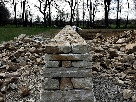 Dry stone walli cross-section/courtesy John Bland Stonecraft