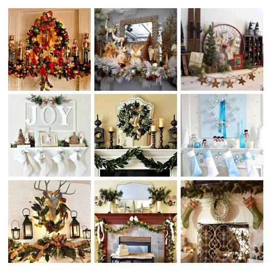 Photos of Christmas mantels via Hometalk.com.