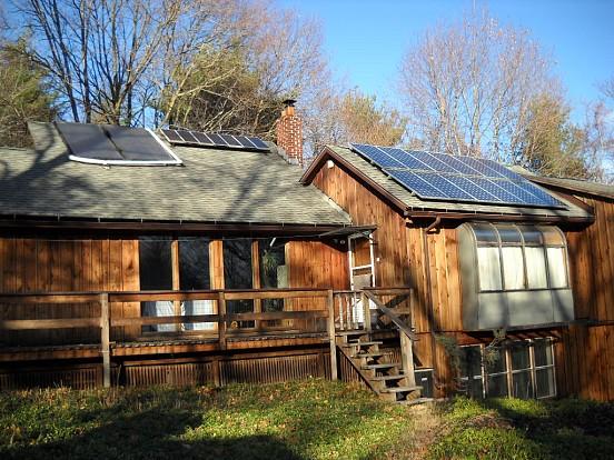 John Howard's solar home.  Photo: Cris Carl