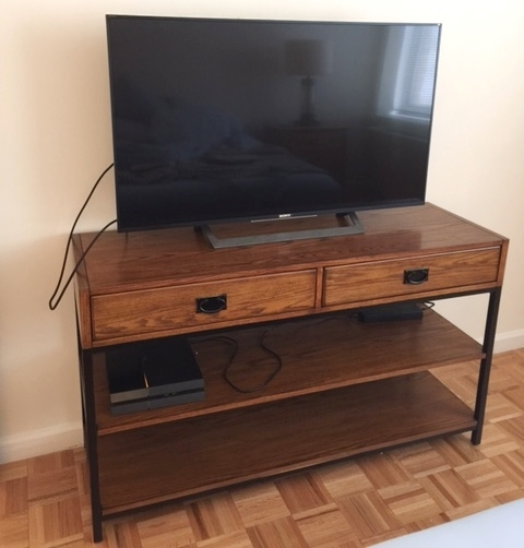 Media console assembled at last