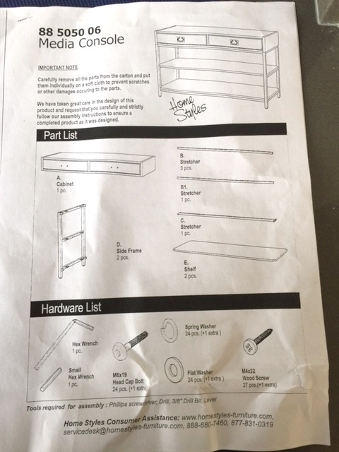 Assembly instructions didn't make it simpler