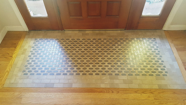 Entrance mosaic tile work