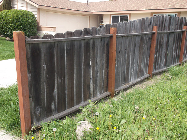 Closer look at the fence repair
