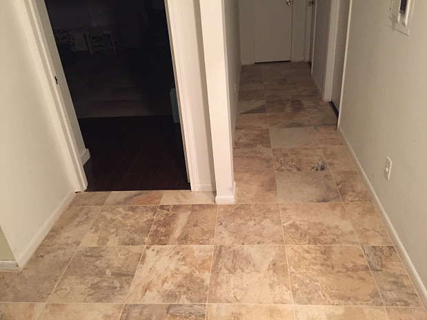 Beautiful new tile floor