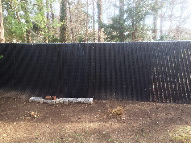 After fence repair: good as new