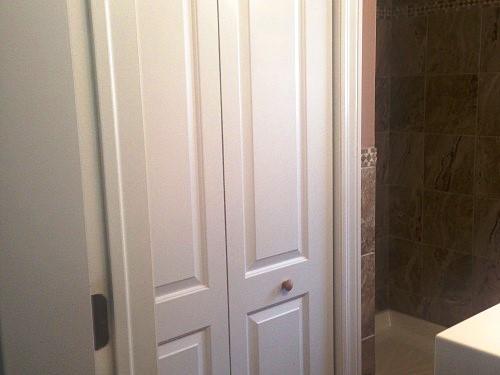 Storage closet downstairs bath