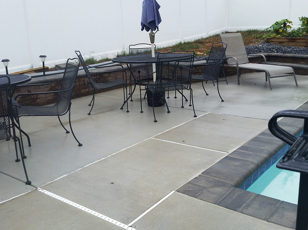 Concrete patio extension