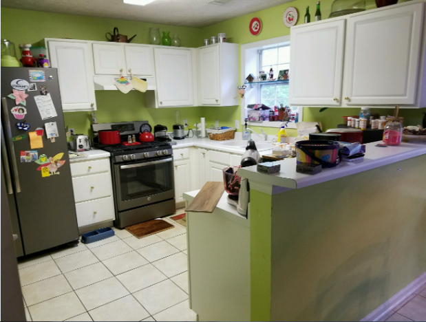 Before: view of the old kitchen