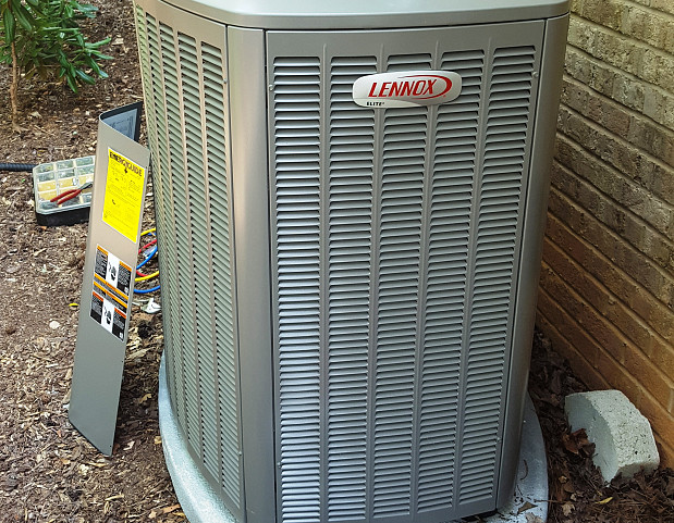 Air conditioner install - outdoor unit