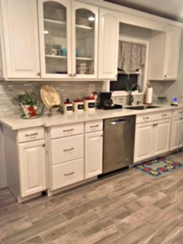 Kitchen remodel with backsplash