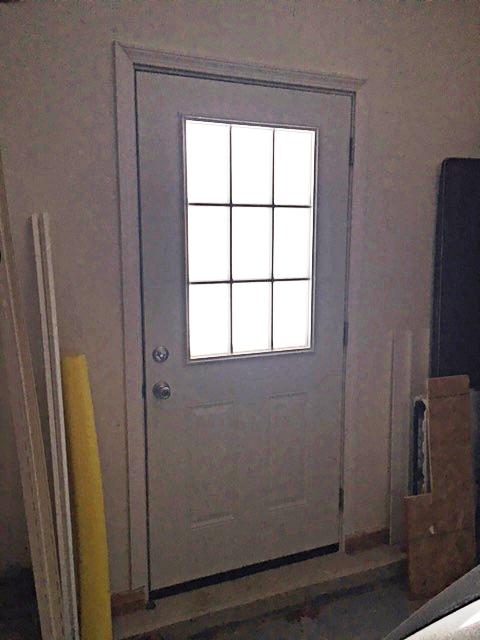 New door in my finished garage