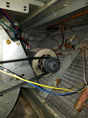 Air conditioner belt replacement
