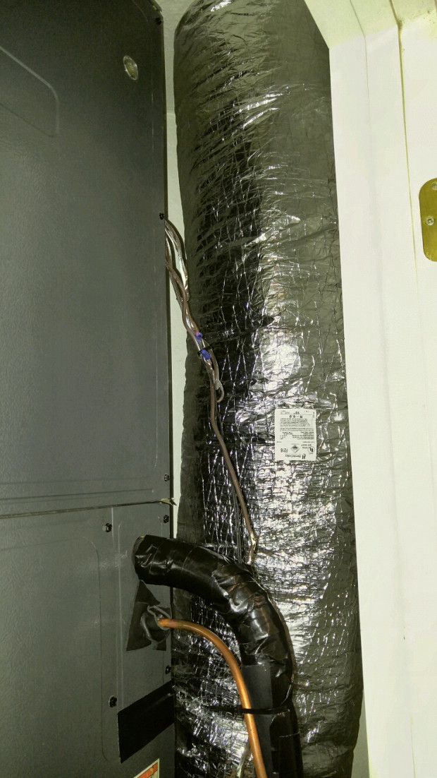 Connection to new A/C ductwork