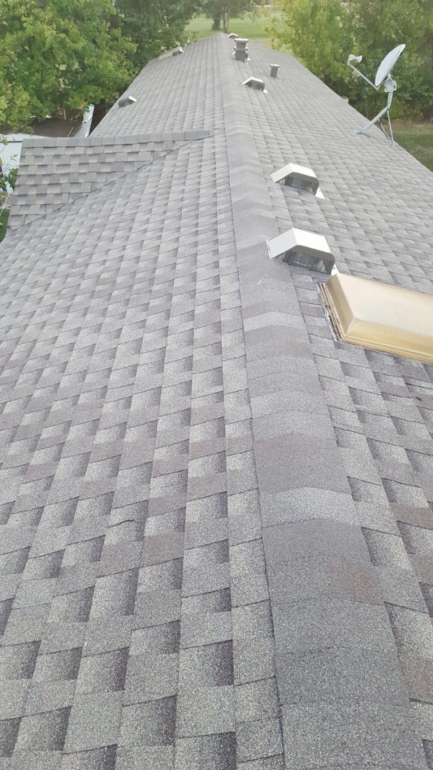AFTER Newly installed roof